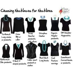 Necklaces with different shirts