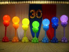 Balloon Columns, Balloons, Image, Neon Party, Globe Decor, Globes, Balloon, Hot Air Balloons