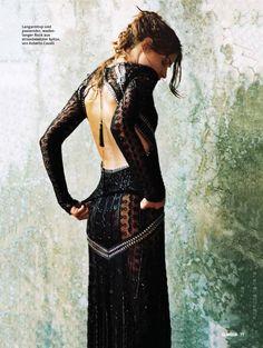 Roberto Cavalli vintage LBD.  For more fashion inspiration visit www.mylittleblackdressstore.com vintage black dresses, retro LBD