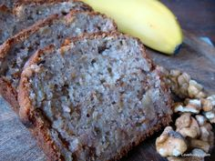 Moist Banana and Walnut Pound Loaf Bread Cake - Lovefoodies hanging out! Tease your taste buds!