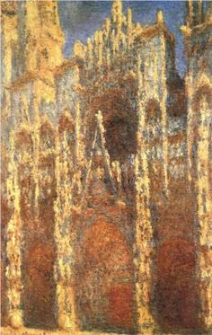 Another painting that marks a site I've been to! ❤️  Rouen Cathedral, the Portal - Claude Monet
