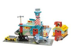 The Le Toy Van International Airshow from Le Toy Van is a great addition to your Papo Air show playset. This colourful playset is all set for action on the runway. Figures sold seperately.