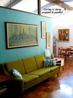 Turquoise and Avocado and Mid Century? Swoon...