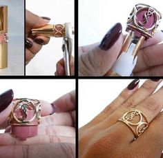 Recycled YSL lipstick into ring