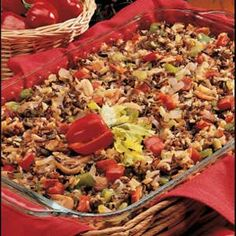 Contest-Winning Mushroom Wild Rice Looks good for sans the cornstarch. I added 1 pound of ground beef Vegetable Side Dishes, Vegetable Recipes, Cooking Recipes, Healthy Recipes, Yummy Recipes, Healthy Food, Wild Rice Recipes, Stuffed Mushrooms, Risotto