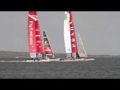 AC72 Practice Race - Takapuna Beach, NZ - check out my blog for more