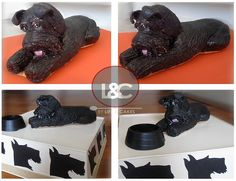 Schnauzer cake topper - After