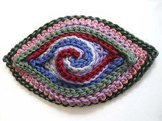 slip stitch crochet brooch by Prudence Mapstone - www.knotjustknitting.com