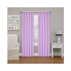 Kendall Blackout Thermaback Curtain Panel Light Purple ($14) ❤ liked on Polyvore featuring home, home decor, window treatments, curtains, light purple, lilac curtains, black out window panels, eclipse curtains, target blackout curtains and patterned blackout curtains
