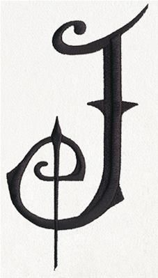 Vintage drawing of the letter J. free downloadable public domain ...