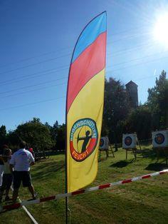 Beachflag von bannerstop.com für den Bogenschützen Verein Feucht.