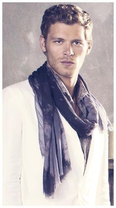 Joseph Morgan. The man knows how to wear a scarf.
