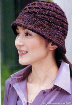 Openwork Cloche Hat free crochet graph pattern