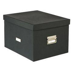 For all your filing needs, look no further than our Letter/Legal Stockholm File Box.  It includes two sets of steel rails - one pair for hanging letter-size hanging file and another for legal-size - you choose which you need.  The box looks sleek and sophisticated on an office shelf.  Click the image to see the interior with files.