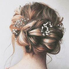 Wedding Hair Braid Half Up