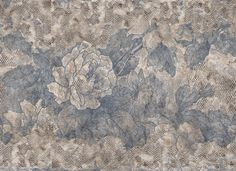 Beautiful grunge flowers; great wallpaper mural by Wall & Deco Italy. Available in three ;wonderful ;colors.This vinyl wallpaper will be made on demand in the size you need and comes in roles of 47 cm.