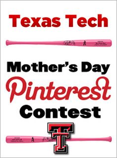 """We're giving you the chance to outfit your mom for Mother's Day. Create a new board called """"Texas Tech Mother's Day."""" Then pin four items from the shop.texastech.com and you could win them all! Click through for details and start pinning!"""