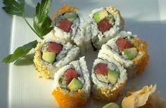 Mmm...favorite type of sushi, tuna & avocado.