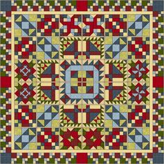2016: It's free! And it will come in your mailbox, starting January 5. If you click on the quilt, you go to a page to sign up for the e-mails.  Texas Quiltworks