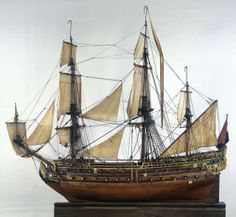 Scheepsmodel William Rex, Cornelis Moesman, Adriaen de Vriend 1698. This model shows the appearance of a Dutch warship in the late 17th century. It was made at the dockyards of Vlissingen (Flushing), where real warships were also built. These would have been more than twelve times larger than this model. This ship has 72 guns. The model was displayed in the council chamber of the Admiralty of Zeeland in Middelburg.