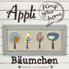 Appli-Bäumchen Stickdateien 10x10 von ginihouse3 auf DaWanda.com