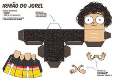 Irmão do Jorel! Jorel's Brother, Halle, Class Decoration, Paper Toys, Toy Boxes, Origami, Diy And Crafts, Geek Stuff, Cartoon