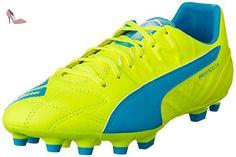 Puma Evospeed 3.4 LTH AG - Chaussures de Football - Homme - Multicolore (Safety Yellow/Atomic Blue/White) - 44.5 EU (10 UK) yQlrMI92