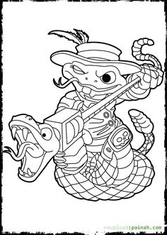 Skylanders Coloring Pages Rattleshake