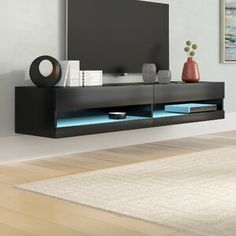 Shop a great selection of Ramsdell Floating TV Stand TVs 78 Orren Ellis. Find new offer and Similar products for Ramsdell Floating TV Stand TVs 78 Orren Ellis. Floating Entertainment Center, Entertainment Wall Units, Entertainment Products, Recessed Electric Fireplace, Vinyl Wall Panels, Floating Tv Stand, Floating Tv Unit, Muebles Living, Bamboo Wall
