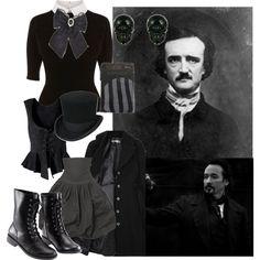 """Edgar Allan Poe"" by catfondue on Polyvore"