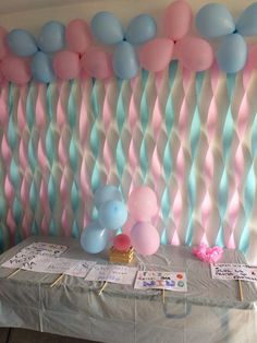 Chá de revelação Gender Reveal Decorations, Diy Baby Shower Decorations, Diy Birthday Decorations, Balloon Decorations, Baby Party, Baby Shower Parties, Baby Shower Themes, Baby Gender Reveal Party, Gender Party