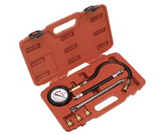 Petrol Engine Compression Tester Deluxe Kit 6pc TATHT043