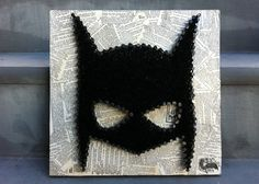 not gonna lie, i want this so freaking badly! Mixed Media Batman nail art made and sold by AsULikeIt on Etsy