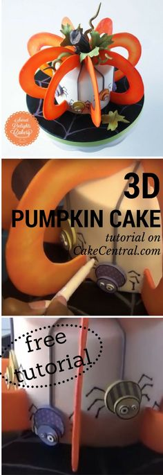 NishaW shows you how to make this amazing 3D pumpkin cake for Halloween in this video tutorial.