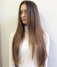 Long Layered Brown Balayage Hair