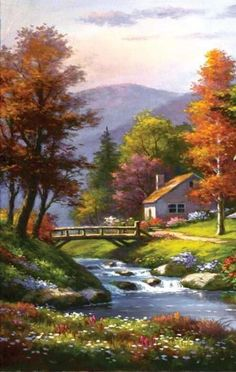 This landscape is beautiful Es hermoso este paisaje This landscape is beautiful Easy Landscape Paintings, Scenery Paintings, Watercolor Landscape, Fantasy Landscape, Landscape Art, Landscape Photography, Nature Photography, House Landscape, Beautiful Nature Wallpaper