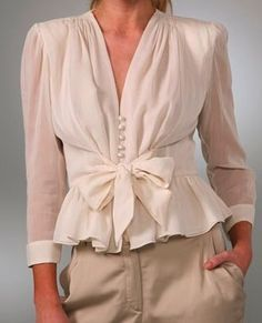 romantic blouse - Google Search Box Pleat Skirt, Box Pleats, Pleated Skirt, Peplum, Romantic, Google Search, Long Sleeve, Fitness, Skirts