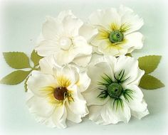 Foamiran flowers foamiran flowers set of 4 by CarmenHandCrafts
