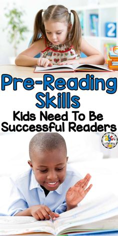 Before we can teach our children to read, it is important to first build the foundation for lifelong learning and reading success. Here are 5 Pre-Reading Skills Kids Need To Be Successful Readers. Pre Reading Activities, Comprehension Activities, Reading Strategies, Reading Skills, Youth Activities, Writing Skills, Early Reading, Guided Reading, Teaching Reading