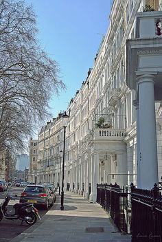 This is where I stayed when I was with my aunt in London, I walked this street every day. Earls Court, London.