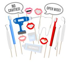 Dentist Printable Photo Booth Props  by PrintablePropShop on Etsy