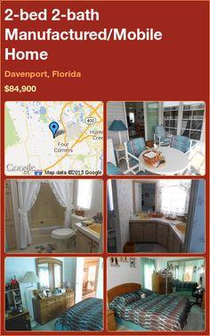 2-bed 2-bath Manufactured/Mobile Home in Davenport, Florida ►$84,900 #PropertyForSale #RealEstate #Florida http://florida-magic.com/properties/4389-manufactured-mobile-home-for-sale-in-davenport-florida-with-2-bedroom-2-bathroom