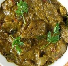 Lamb Curry with delicate spices and fresh flavours. Adjust heat as per your preference and give this recipe a try today.Green Lamb Curry with delicate spices and fresh flavours. Adjust heat as per your preference and give this recipe a try today. Lamb Recipes, Veg Recipes, Spicy Recipes, Curry Recipes, Indian Food Recipes, Asian Recipes, Cooking Recipes, Pakistan Food, India Food