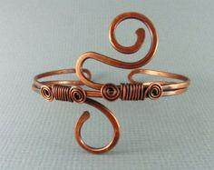 Copper Cuff Bracelet Wire Wrapped Jewelry Copper Bracelet Wire Wrapped Bracelet Copper Bangle