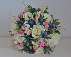 Scottish Thistle and Roses - would never have thought of that!
