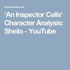 sheila and eric are important in an inspector Inspector: one eva smith has gone but there are millions and millions.