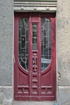 Jugendstil door on a building in Riga, Latvia