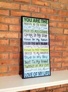 husband wife anniversary gift, love boyfriend girlfriend, home decor wall hanging