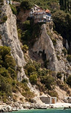 The Skete of Virgin Mary, Mount Athos, Greece Beautiful Places To Visit, Great Places, Places To See, Traveller's Tales, The Holy Mountain, Christian World, Sacred Architecture, Greece Travel, Greek Islands