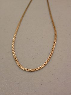 14k Sterling Necklace Italian Yellow Rose Gold Silver 40